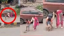 सड़क के गड्ढे भरते मां-बेटे का वीडियो वायरल होने में एक बहुत बड़ी दिक्कत है