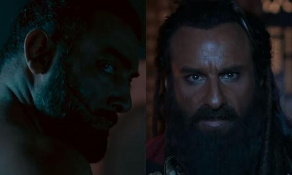 लाल कप्तान के दो मुख्य पात्र- गुसाईं (रहमत खान) और रहमत खान (मानव विज).