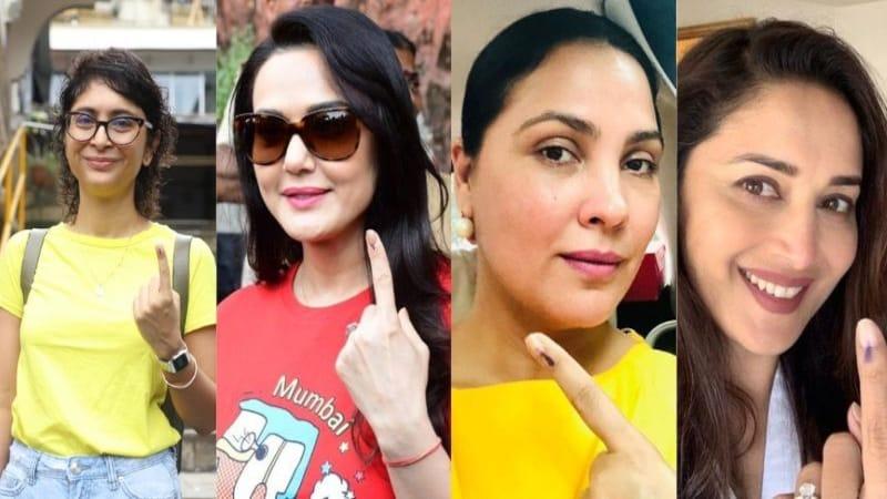 मुंबई में भी वोट पड़े, हीरो-हिरोइन की इंक वाली फोटो को देखना तो बनता है बॉस!