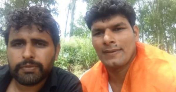 उस वीडियो का स्क्रीनशॉट जो दलाल और दरवेश ने उमर खालिद पर हमले के बाद जारी किया था.