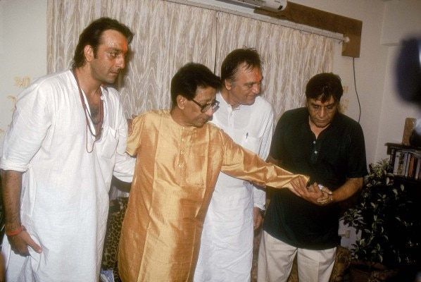 Sanjay Dutt With Bal Thackeray