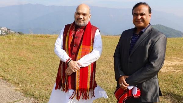 Himanta Biswa Sarma And Amit Shah