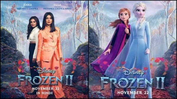 हिंदी डब्ड मूवी में प्रियंका और परिणीता, क्रमशः एल्सा और ऐना की आवाज़ बनी हैं.
