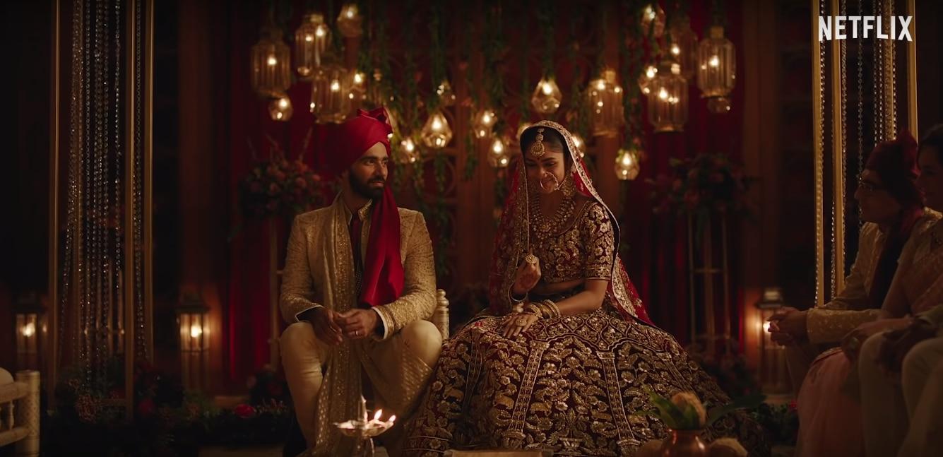 फिल्म के करण जौहर वाले सेग्मेंट का एक सीन, जिसमें लड़का-लड़की की शादी हो रही है. सारा किस्सा इसी शादी के बाद शुरू होता है.
