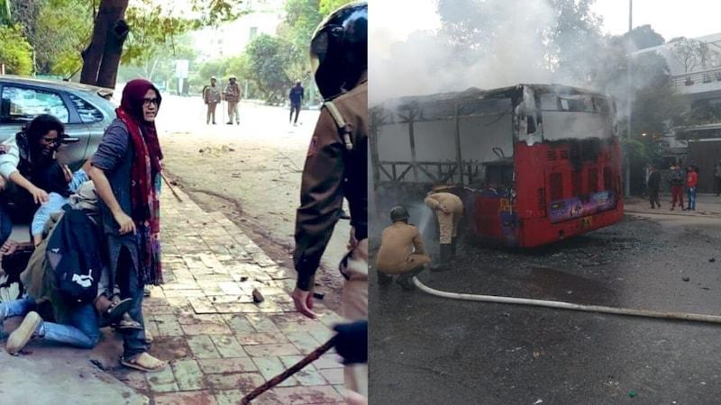 CAA प्रोटेस्टः जामिया यूनिवर्सिटी के कैम्पस में घुसी पुलिस, डराने वाली तस्वीरें आ रही हैं