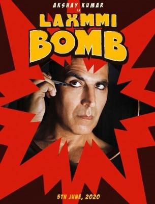 अक्षय की फिल्म 'लक्ष्मी बम' का पोस्टर.