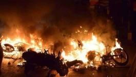 मऊ: नागरिकता संशोधन क़ानून के विरोध प्रदर्शन में लोगों ने पुलिस थाने में आग लगा दी