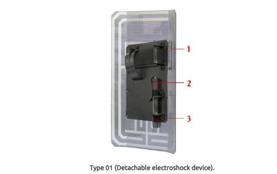 इसमें आप देख सकते हैं, 3 नंबर पर एक हैंडल दिखाया गया है, जो इलेक्ट्रोशॉक डिवाइस है. फोटो साभार: रशियन शॉकर्स