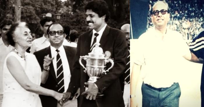 वर्ल्ड कप जीतने के बाद देश की प्रधानमंत्री इंदिरा गांधी से मिलते कपिल देव के साथ मैनेजर मान सिंह.