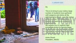 जिस आइशी घोष पर केस दर्ज हुआ उसने 3 बजे ही JNU में हिंसा की सूचना पुलिस को दी थी