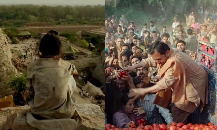 लेफ्ट में पाकिस्तान से विस्थापित हुए लोगों का शिविर (भाग मिल्खा भाग). राईट में कश्मीर से विस्थापित हुए कश्मीरी पंडितों का शिविर (शिकारा).