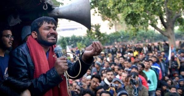 कन्हैया कुमार ने JNU में छात्रों को संबोधित किया था. उन्हें विपक्षी 'टुकड़े-टुकड़े गैंग' का सरगना बताते हैं.(फोटो: पीटीआई)