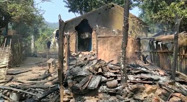 Maosits Burnt Houses Of Villagers In Jadomba, Malkangiri, Odisha