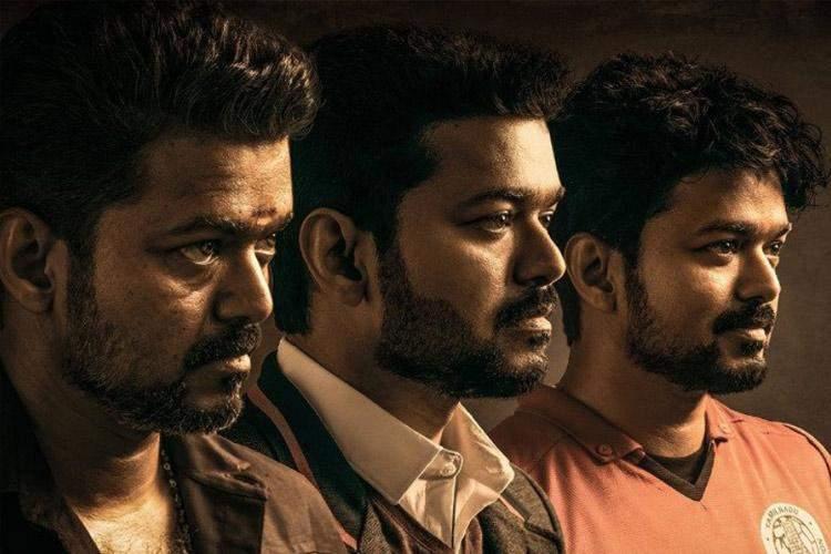 फिल्म 'बिगिल' के पोस्टर पर सुपरस्टार जॉसफ विजय, जिन्हें फैंस 'थलपति' के नाम से बुलाते हैं.