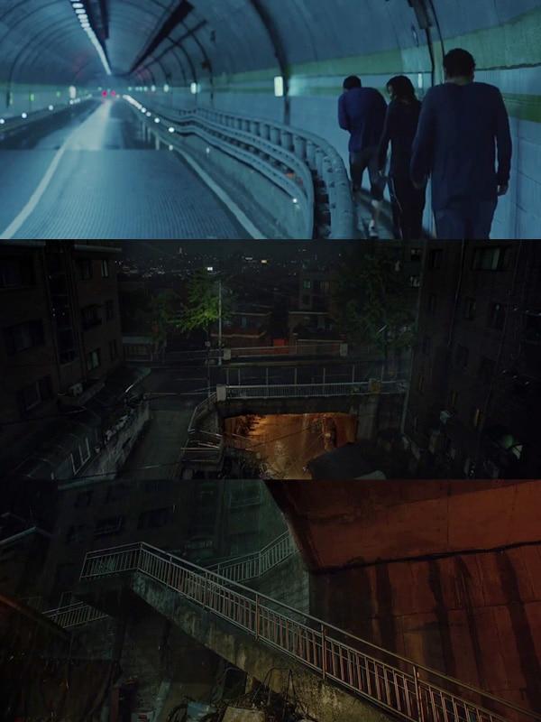 Parasite Movie Bong Joon Ho Rain Scene Oscars 2020