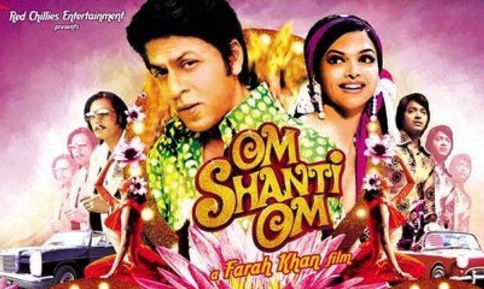 ओम शांति ओम में भी शाहरुख़ के दो किरदारों में से एक चरित्र अभिनेता ही रहता है.