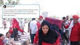 रेलवे स्टेशन पर सामान ढोती इन महिलाओं की तस्वीर में दिक्कत क्या है?