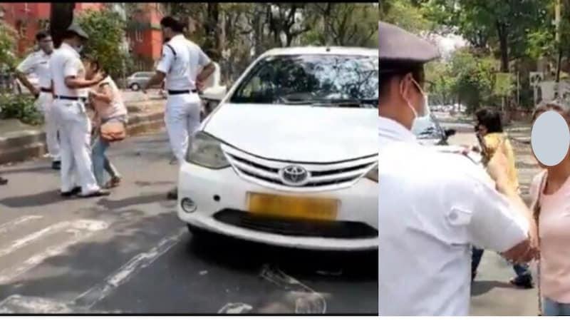 कोलकाताः लॉकडाउन में बाहर न निकलने को कहा तो महिला ने पुलिसवाले का हाथ चाट लिया