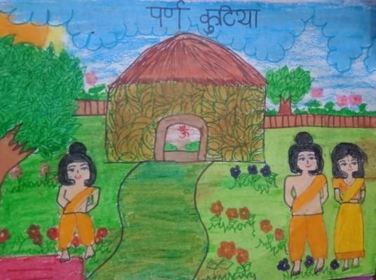 वनवास के दौरान पर्णकुटी में राम-जानकी और लक्ष्मण की एक झलक (फोटो क्रेडिट: दी लल्लनटॉप)
