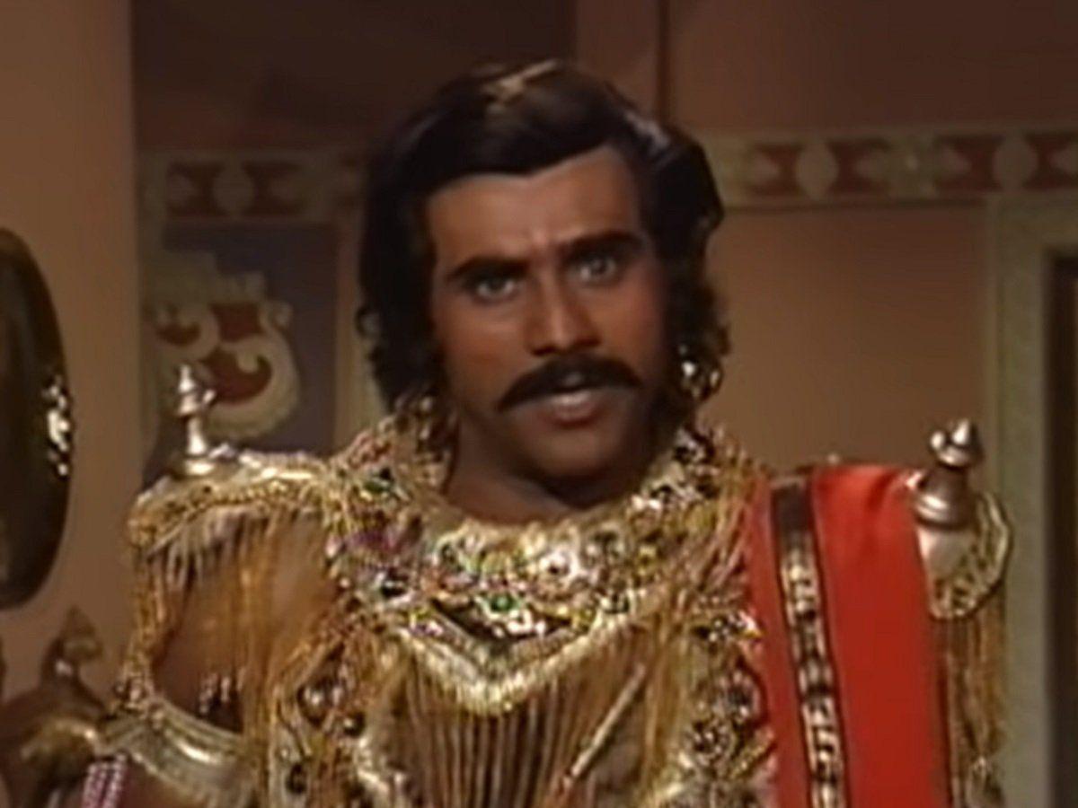 दुर्योधन के रोल में पुनीत इस्सर. पुनीत ने इसके बाद मॉडर्न महाभारत में भी एक बार दुर्योधन का रोल किया है.