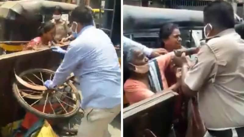 लॉकडाउन: सब्जी बेचने वाली महिलाओं के ठेले पलटे, उन्होंने महिला पुलिसकर्मी को पीट दिया!