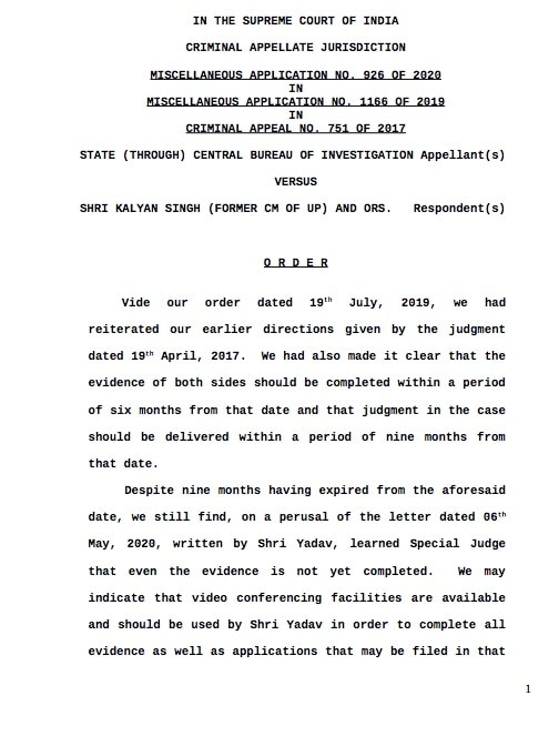 Babri Demolition Sc Order 1