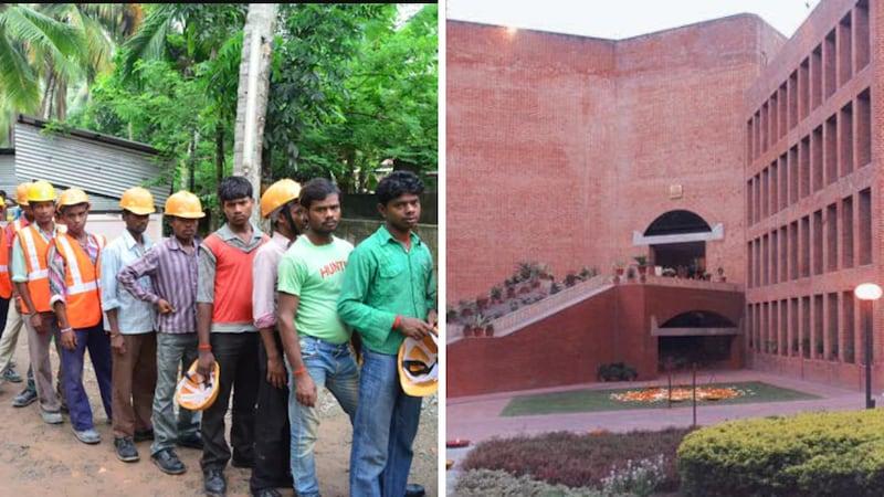 क्या IIM अहमदाबाद और गुजरात की आर्किटेक्ट कंपनी ने मिलकर दो महीने से मज़दूरों का पैसा डकार रखा है?