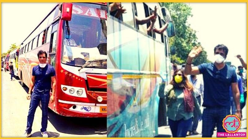 सोनू सूद ने प्रवासी मजदूरों को घर पहुंचाने के लिए अपने खर्चे पर चलवाईं 10 बसें