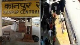 कानपुर स्टेशन पर ट्रेन रुकी और खाने को लेकर आपस में भिड़ गए प्रवासी मज़दूर