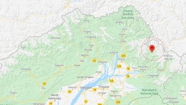 नक्शे में चागलगाम (गोले में) दिख रहा है. यह भारत-चीन सीमा के काफी पास है. यहां पर चीनी सेना की घुसपैठ के मामले लगातार सामने आते रहे हैं.