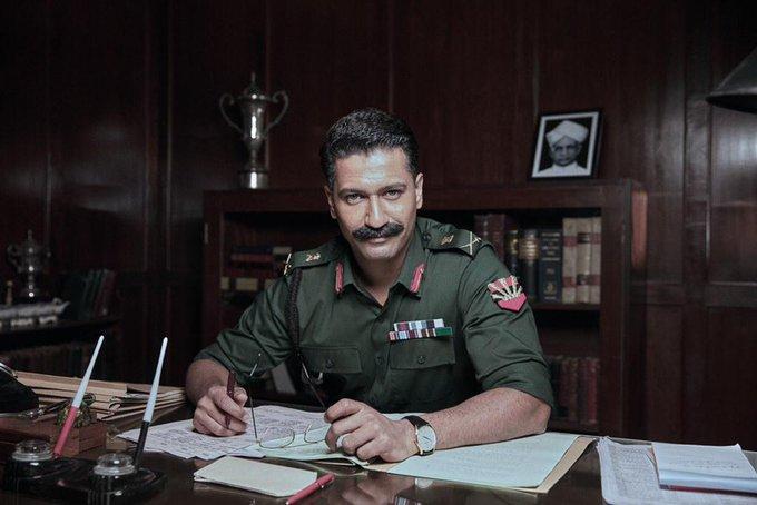 पहले फील्ड मार्शल सैम मानेकशॉ के लुक में विकी कौशल.
