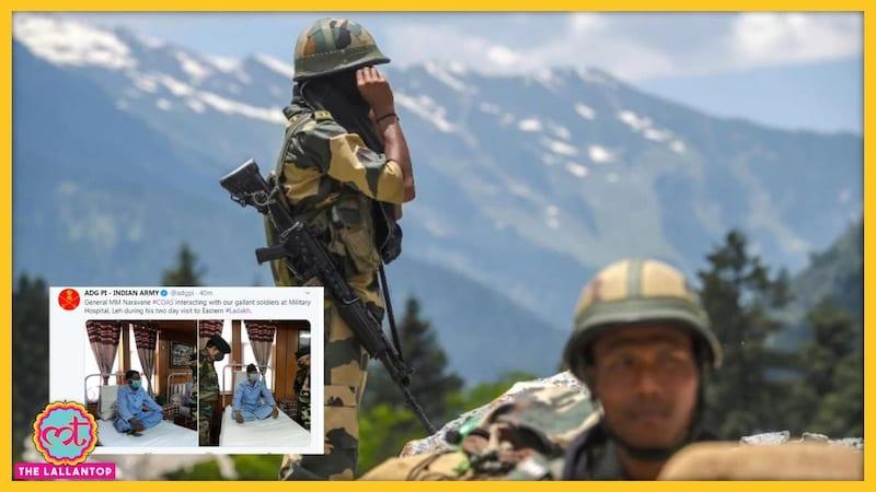 गलवान में घायल हुए भारतीय जवानों की पहली तस्वीर सामने आई है