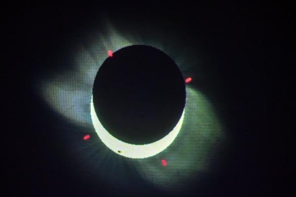 लखनऊ के प्लेनटोरियम से ली गई ग्रहण की सैटेलाइट इमेज. (Photo: PTI)