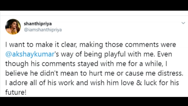 Shanthipriya Tweet