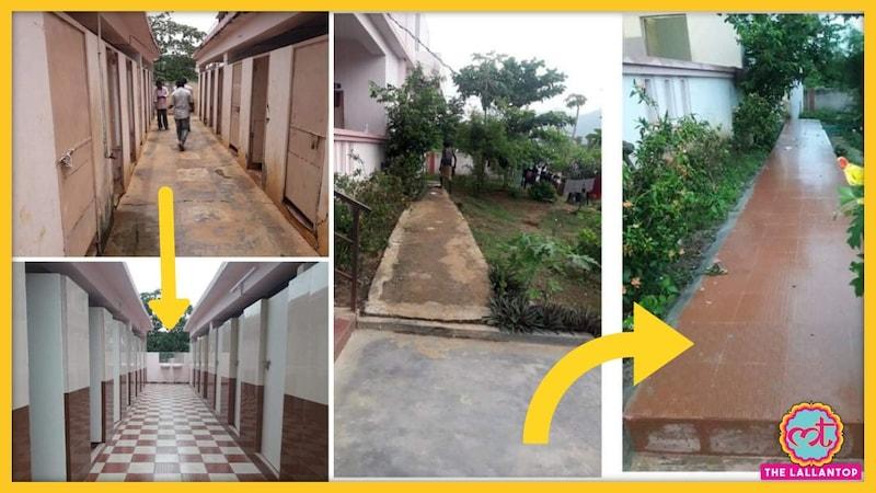 आंध्र प्रदेश के सरकारी स्कूलों की ये तस्वीरें इंटरनेट पर खूब हलचल मचा रही हैं