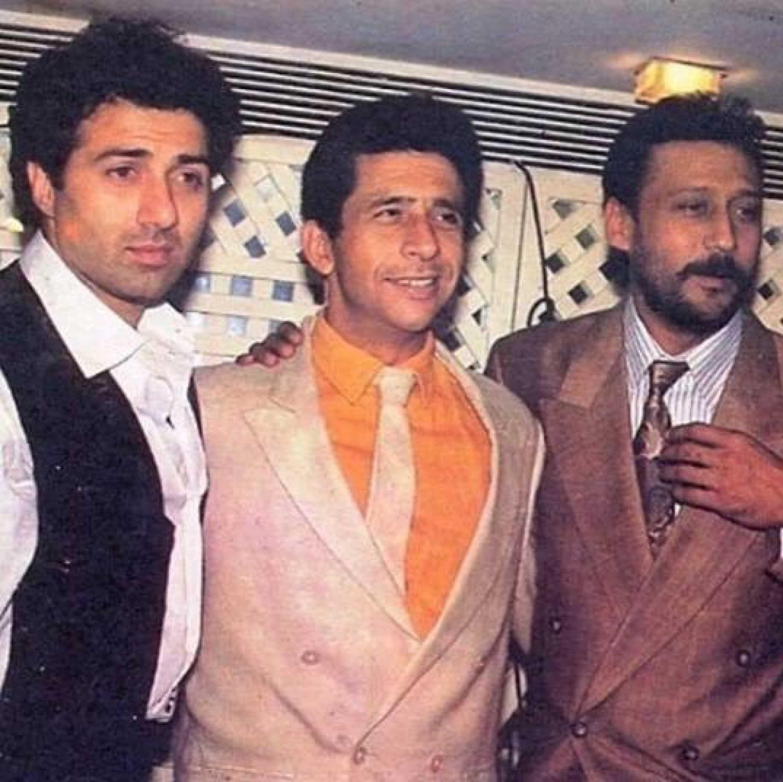 फिल्म 'त्रिदेव' से जुड़े एक इवेंट में सनी देओल, नसीरुद्दीन शाह और जैकी श्रॉफ.
