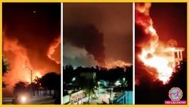 आंध्र प्रदेश : एक के बाद एक धमाकों के बाद कारखाने में भयानक आग लग गई