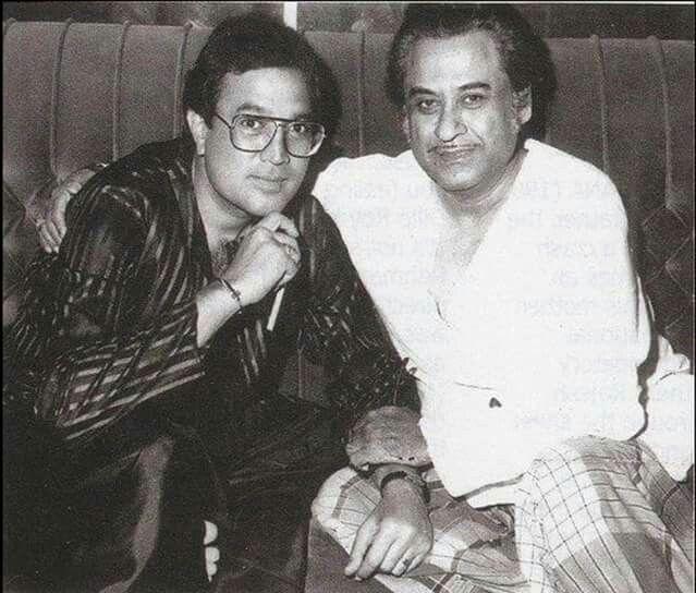 एक मुलाकात के दौरान राजेश खन्ना और किशोर कुमार.