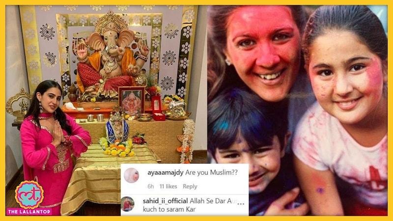 सारा अली खान ने गणपति की पूजा की, ये ट्रोल्स का छोटा दिमाग पचा नहीं पाया
