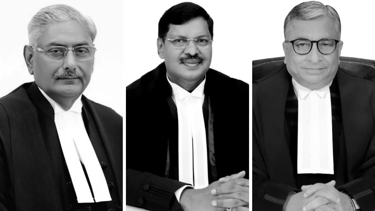 जस्टिस अरुण मिश्र, जस्टिस बीआर गवई और जस्टिस कृष्ण मुरारी