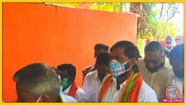 BJP जॉइन करने पहुंचा गैंगस्टर, पुलिस को देखते ही नौ दो ग्यारह हो गया