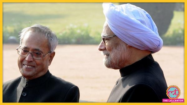 Pranab Mukherjee With Manmohan Singh