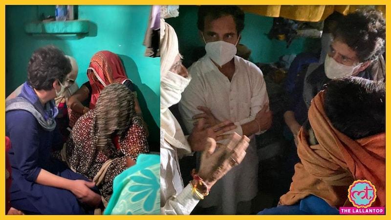 हाथरस पीड़ित परिवार से मिले राहुल गांधी और प्रियंका गांधी, योगी ने CBI जांच की सिफारिश की