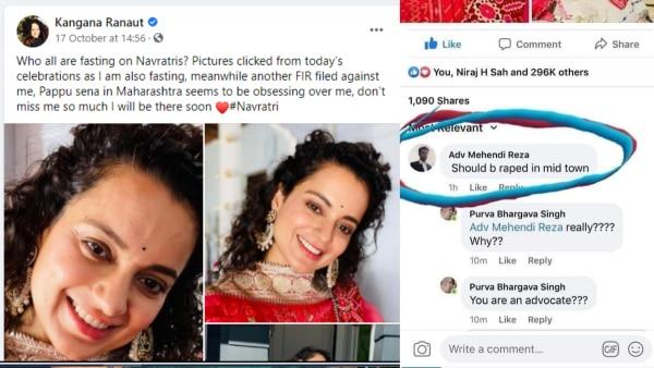 Rape Threats To Kangana Ranaut