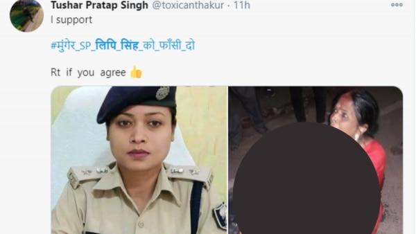 Tweet Against Lipi Singh