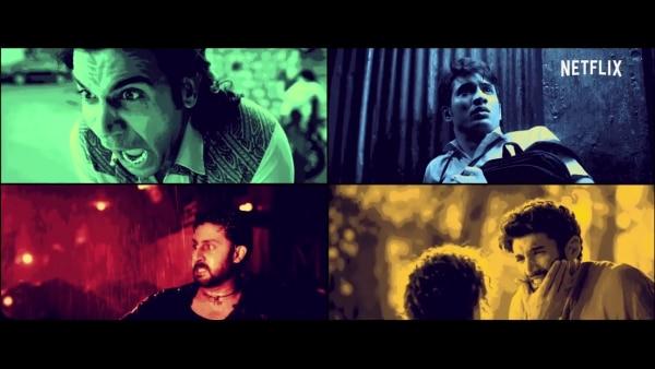 लूडो फिल्म की कहानी बेसिकली इन चार प्रमुख किरदारों के ईर्द-गिर्द घूमती है जो किसी ना किसी तरह से पैसे कमाना चाहते हैं. कोई गैंग्सटर है तो कोई साधारण होटल का वेटर मगर सभी की कहानी एक-दूसरे से कहीं ना कहीं कनेक्ट होती दिखाई देती है. फोटो- यू-ट्यूब स्क्रीन शॉट.