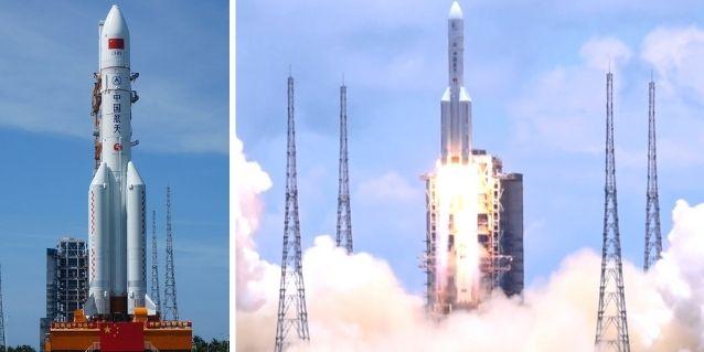 चीन का सबसे पावरफुल रॉकेट लॉन्ग मार्च 5. तियनवेन 1 का लॉन्च. (विकिमीडिया)