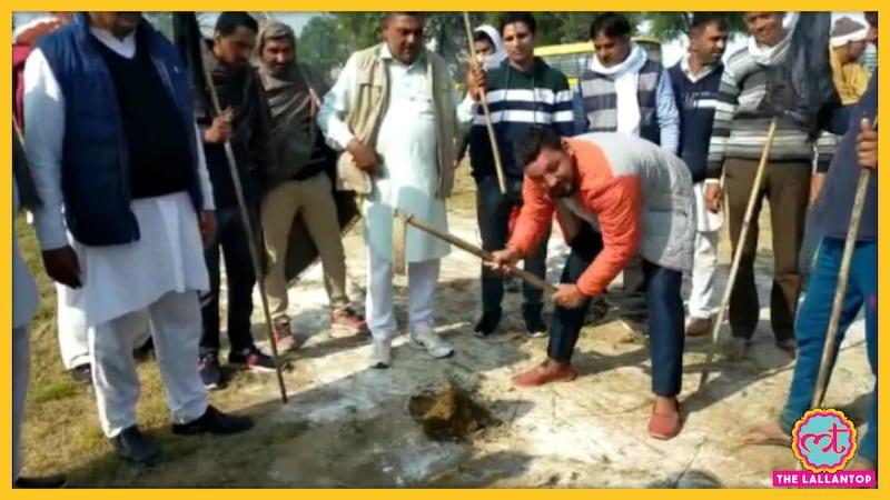 हरियाणा में डिप्टी सीएम के लिए बना हैलीपैड किसानों ने खोद डाला, कहा- एंट्री बैन