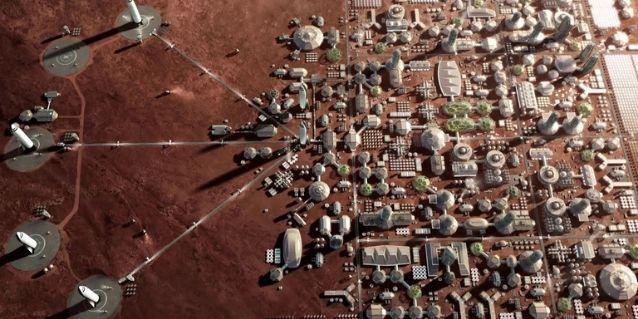 मंगल पर शहर का स्पेसऐक्स का विज़न.