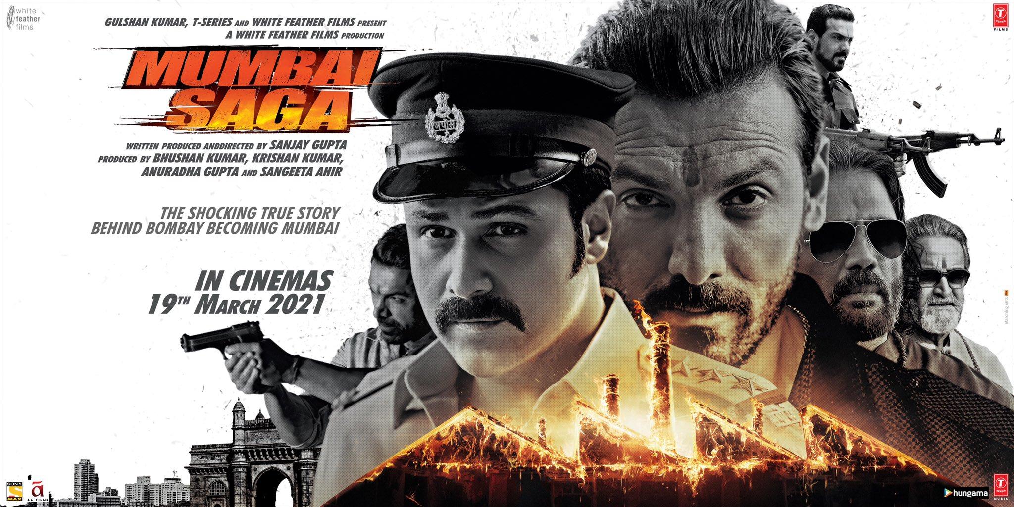 फिल्म 'मुंबई सागा' पोस्टर.